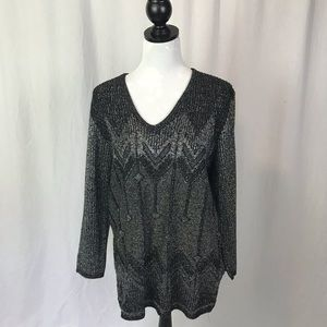 Vintage black murex blend tunic top